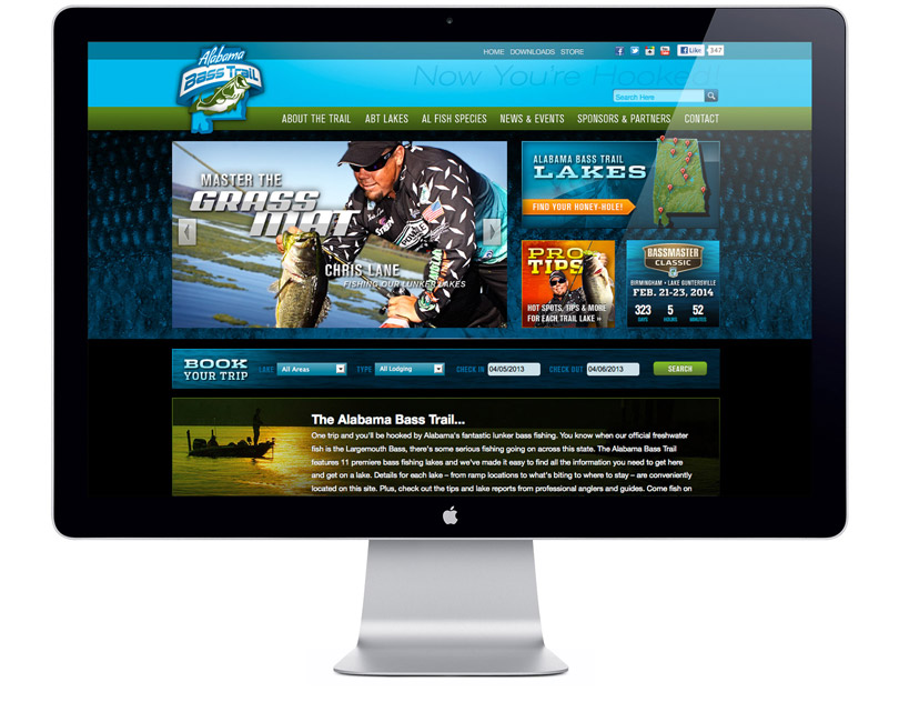 Alabama Bass Trail website home page